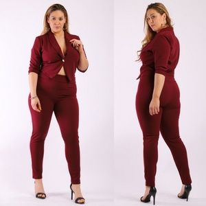 🔥💥 Plus Size two pice set jacket & pants 🔥💥